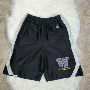 VTG Champion Shorts Youth Size Medium UW Huskies